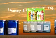 chemicals / laundry and kitchen chemicals, detergent, chlorin, softener, oxygen bleach, desinfectant, hands soap, dishwash, glasscleaner