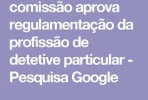 REGULAMENTAÇÃO  DA FRIFFISSÃO DE DETETIVE PARTICULAR