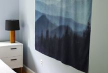 Hanging Photo Booth Backdrop in Home