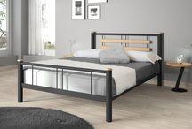 Lits bois métal / Lits modernes et contemporains en métal associant du bois pour plus de chaleur