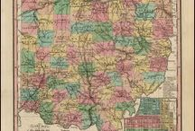 Ohio Antique Maps / Antique maps of Ohio show the dramatic changes in the states geographical and political situation over time. Vintage maps of Ohio often show the growth of railroads, counties and cities in The State of Ohio. Old maps of Ohio, including antique maps of Cincinnati, Columbus and Cleveland can be found here.