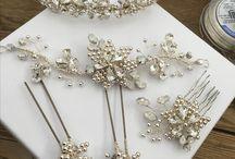 Opal bridal headpieces