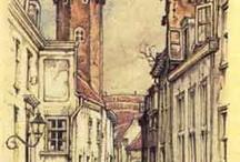 архитектура, дома, окна, двери, мосты