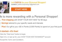 Shop your way with me as your Personal Shopper  / I am a Kmart/Sears Personal Shopper and I would love to help you with all your shopping needs.  Check me out and sign up for me to be your Personal Shopper at: http://ps.syw.net/invite/choyaPorter