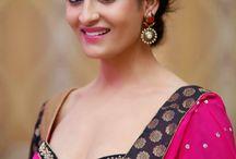 Akanksha in Saree Photos