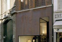 Oficinas fachadas e interiores