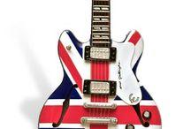 mosaic british flag guitar