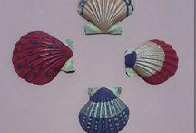Seashell craft and art ideas