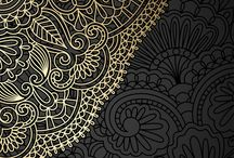 Wallpapers black and gold...