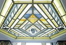 "Igor Tomskiy.  Stained glass ""Aguam. Aether. Terra. Ignis"". Moskovskiy prospekt. SPb. 2014. / Igor Tomskiy. Series of stained glass ""Aguam. Aether. Terra. Ignis"". Moskovskiy prospekt. St.Petersburg. Russia."