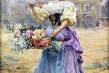 Femei cu flori