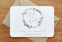 Rustic Floral Save The Date Cards / Rustic inspired Save the Dates with flowers and foliage to give the truly natural feel.