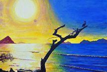 Acrylbilder / Diese Bilder sind alle mit Acrylfarben gemalt.