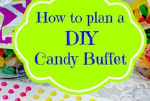 Candy Buffets / Ideas for a small candy buffet for guests and special occasions.