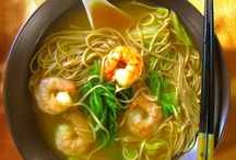Spicy shrimp and noodle soup recipe