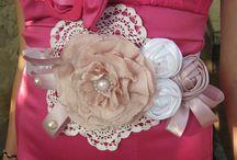 Alkotásaim - Örökvirág öveim - My handmade flower sashes for weddings
