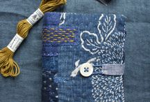Indigo and handembrodery