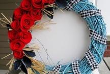 Wreath for Front Door / by Yasmine Evjen