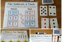 Addition and Subtraction Lessons / Elementary lessons for addition and subtraction. Create centers, use games and cards to increase number skills and students fluency with addition and subtraction.