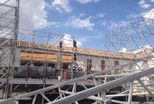 Montaje escenario / Fotos del montaje de un escenario en Madrid.