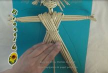 pletení z papíru - podzim