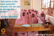 """CARE: change the world with education, end poverty and empower girls. / """"Women are our greatest hope for ending poverty."""" """"If you change the life of a girl or woman, you don't just change that individual, you change her family and then her community."""" – Dr. Helene Gayle, CARE CEO Please support: www.care.org"""