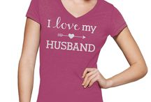I Love My Husband Cool Hoodies/T-shirts / Clothing. For more options - please email me - amcotop at gmail dot com  / by Amcotop