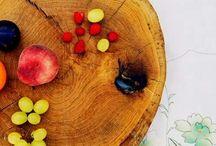 plastry woodslice slice oak deski