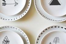 Ideen: Porzellan / Glas / DIY / Hier findet ihr Ideen und Inspirationen zum Selbermachen mit Glas und Porzellan