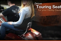 Tourrest / The Tourrest is a motorcycle passenger backrest designed to offer the comfort and security of a wraparound backrest without a tour pack. It works on all Harley Davidson platforms (except the Vrod) and will attach easily on the Harley Davidson medallion style sissy bars .