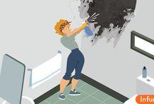 Как очистить плесень в ванной