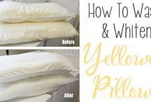 Whitening of pillows
