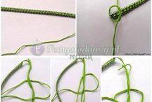 Hand knotweed bracelet