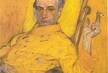 Orphism / Термин изобретенный Гийомом Аполлинером в 1913, обозначил тренд к созданию ярких, лиричных картин, который выделился в парижском Кубизме и нашел свое воплощение в абстрактных композициях Робера Делоне. Sonia Delaunay, Robert Delaunay, Frantisek Kupka