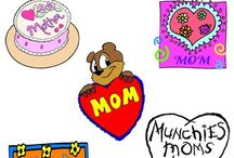 Mother's Day Clip Art / Mother's Day Clip Art. WELCOME to this STUNNING collection of Mother's Day Clip Art images.   This bundle contains 26 high-quality COLOR and BLACK and WHITE Mother's Day Clip Art images. Images saved at 300dpi in PNG files.  ENJOY!!!