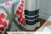Sewing Ideas / Fabric and textiles that add colour , softness and vibrancy to a home! That includes everything NO SEW too as they are the best projects ;)