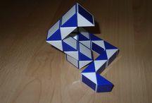 Rubik Kígyó / Rubik kígyó alakzatok amiket kiraktam.