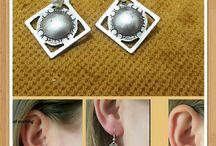 Silver Stud Earrings, Stud Earrings, Minimalist earring, Boho Tribal earrings, Silver Boho, Gypsy Earrings, Handmade Earrings, Long earrings