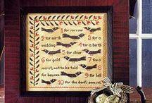 cross stitch / by Sadie Wishart