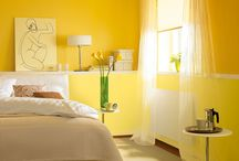 Yellow Rooms / Bright sunshiny yellow interiors to make you smile