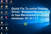 Quick fix to solve Display Driver Stopped Responding and Has Recovered