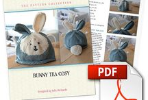 Knitted Tea cosies / Lovely range of Tea Cosy knitting patterns by Julie Richards