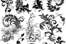 ornamenty, obrazce