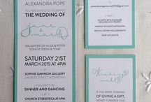 Bridal / The invitation sets the tone for your wedding, make it excite your guests.