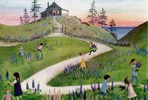 Children's Books with wonderful illustrations  / Hilary Knight, Barbara Cooney, Mercer Mayer, Trina Schart Hyman, Susan Jeffers, K. Y. Craft, Edmund Dulac,