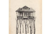 house illustrations