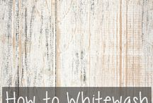 White wash / Wood paint