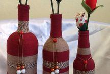 bouteilles et ficelle