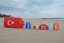 Turkey on stones - Istanbul / Cities of Turkey on colourful stones - Istanbul pictures