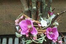 Umělé, sušené květy - dekorace
